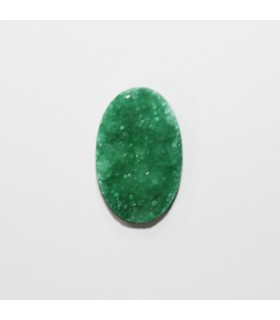 Druzy Agate Oval Cabochon Green 28x18 mm. (4 pcs.).- Item: 1215CB