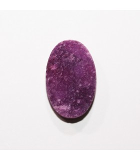 Druzy Agate Oval Cabochon Purple 28x18 mm. (4 pcs.).- Item: 1218CB