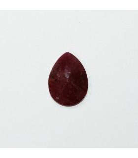 Faceted Drop Rubi Cabuchon. 16x12 mm. (1 pcs.).- Ref: 1223CB