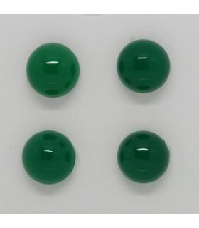Green Agate Round Cabochon 12 mm (4 pcs).- Ref: 1238CB
