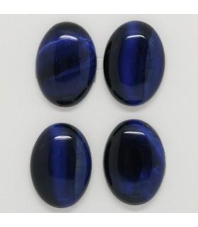 Blue Tiger Eye Oval Cabochon 25x18 mm. (4 pcs.).- Item: 1243CB