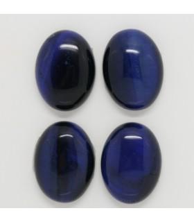 Blue Tiger Eye Oval Cabochon 20x15 mm. (4 pcs.).- Item: 1243CB