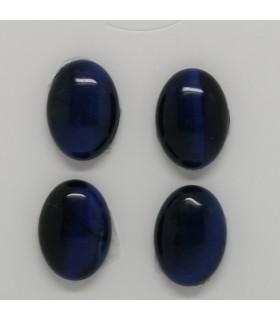 Blue Tiger Eye Oval Cabochon 18x13 mm. (4 pcs.).- Item: 1249CB
