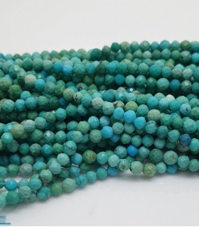 Faceted Turquoise Round Beads 3mm -Strand 40cm- Item. 11437