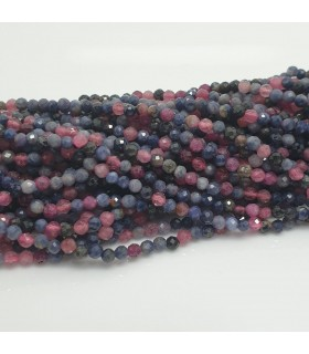 Rubi-Sapphire Faceted Round Beads 2.5mm.-Strand 40cm.-Item.11455