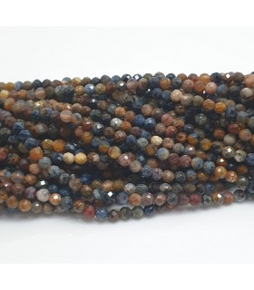 Pietersite Faceted Round Beads 3mm.-Strand 40cm.-Item.11456