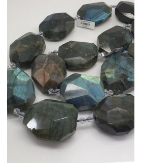 Labradorite Faceted Nugget 38x29mm. Approx.-Strand 39cm.-Item.11463
