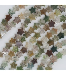 Indian Agate Smooth Star 6mm.-Strand 40cm.-Item.11467