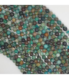 Turquoise Round Beads 7mm.-Strand 39cm.-Item 11470
