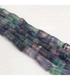 Fluorite Twited Cilinder 20x9mm. Strand 42 cm.- Item: 11475