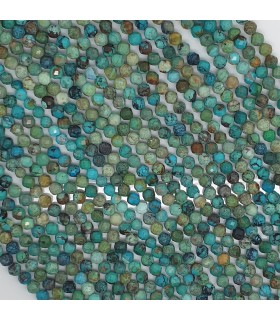 Turquoise Faceted Round 4mm.-Strand. 41cm.-Item.11480