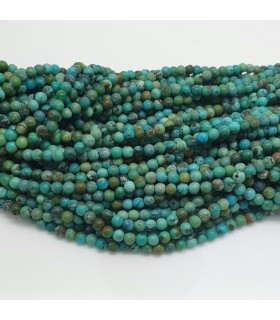 Turquoise Smooth Round Beads 3mm.-Strand. 40cm.-Item.11475
