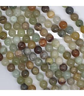 Canadian Jade Round Beads 8mm.-Strand 39cm.-Item.11478
