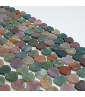 Indian Agate Smooth Heart 10mm.-Strand 40cm.-Item.11486