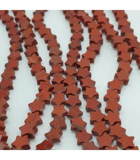 Red Japer Star Beads 6mm.-Strand 39cm.-Item.11494