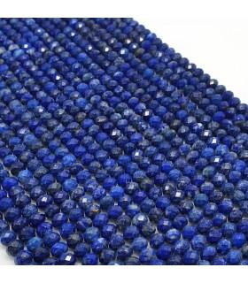 Lapis Lazuli Faceted Rondelle 6x4mm.-Strand 39cm.-Item.11491