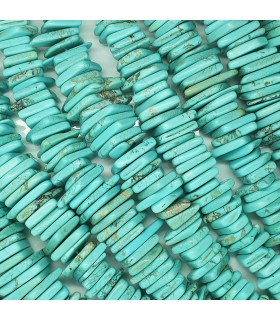 Blue Howlite Graduated Irregular Smooth Rondelle 9x11-20x22mm. Approx.-Strand 40cm.-Item.11499