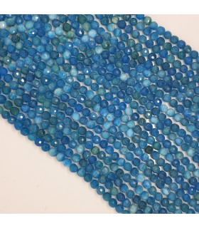 Apatite Faceted Round Beads 6mm.-Strand 39cm.-Item.11488