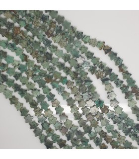Turquoise Star Beads 8mm.-Strand 40cm.-Item.11493