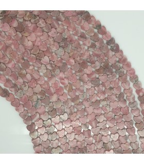 Rodonite Smooth Heart 6mm.-Strand 40cm.-Item.11492