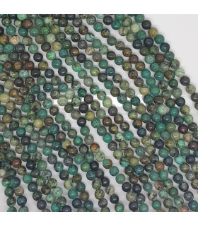 Turquoise Round Beads 6-6.5mm.-Strand 39cm.-Item.11496