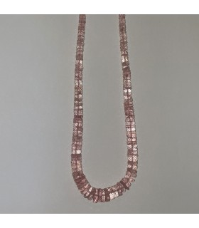 Morganite Graduated Faceted Rondelle Necklace 2.5x1-10x3mm.-Item.11543