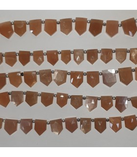 Brown Moonstone Faceted Point 15x12mm.Approx.-Strand 20cm.-Item.11560