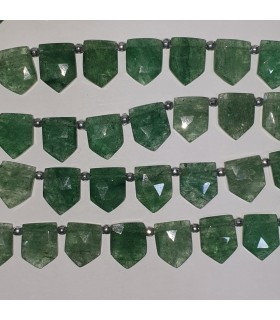 Aventurine Faceted Point 15x12mm.Approx.-Strand 21cm.-Item.11559