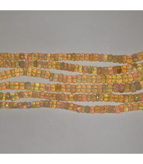 Ethiopian Opal Graduated Faceted Rondelle 4x2-5x4mm.-Strand 48cm.-Item.11550
