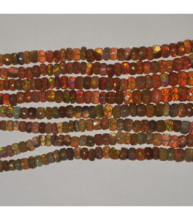Ethiopian Opal Graduated Faceted Rondelle 4x2-7x4mm.-Strand 45cm.-Item.11548
