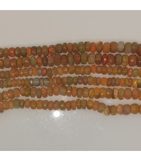 Ethiopian Opal Graduated Faceted Rondelle 4x2-7x3.5mm.-Strand 49cm.-Item.11549