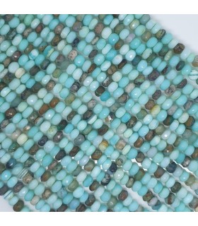 Opal Faceted Rondelle 6x4mm.-Strand 21mm.-Item.11553