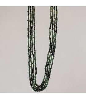 Esmerald Faceted Rondelle Necklace (4 threads) 2.5x2mm.-Item.11573
