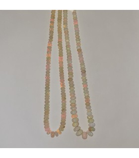 Ethiopian Opal Graduated Smooth Rondelle 5x2-9x6mm.-Strand 45cm.-Item.11586
