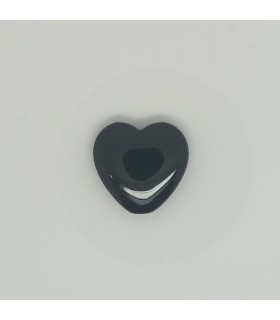 Onyx Heart Smootth 20mm. Top Drill.-Item.11602
