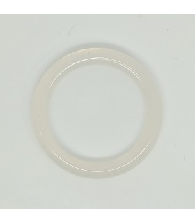 White Agate Circular Smooth Pendant 40mm.-Item.11623