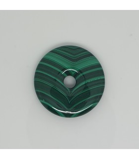Malaquite Circular Smooth Pendant 32mm.-Item.11631