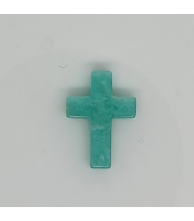 Amazonite Cross Pendant 18x13mm.- Ref: 11637