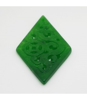Green Jade Carved Pendant 24x43mm.-Item.1181JV