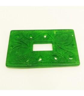 Green Jade Carved Pendant 24x40mm.-Item.1176JV