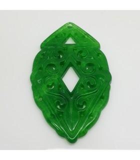 Colgante Jade Verde 32x52mm.-Ref.1179JV