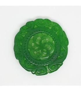 Green Jade Carved Pendant 51mm.-Item.1191JV