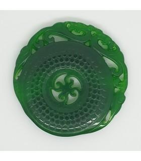 Green Jade Carved Pendant 50mm.-Item.1192JV