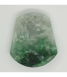Green Jade Carved Pendant 45x51mm.-Item.1199JV