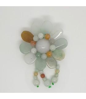 Multicoloured Jade Carved Pendant 43mm.-Item.1196MU