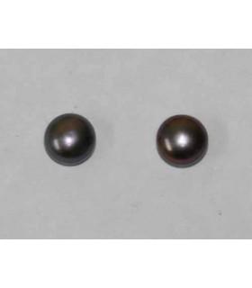 Perla Cultivada Gris Pendiente 5-5.50mm. 6 pares Ref.2943