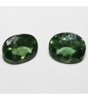 1Pair Green Apatite Faceted Oval ( 3.83 CT ) 8.8x6.5mm.-Item.031PE