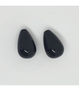 Onyx Half Drilled Drop 20x13mm.( 1 Pair )-Item. 11684