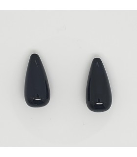Onyx Half Drilled Drop 20x10mm.( 1 Pair )-Item. 11686