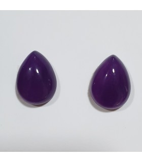 Purple Jade Drop Cabochon ( 2 Pcs ) 16x12mm.-Ref.1272CB